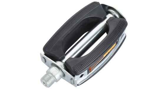 Marwi Sportpedal - Pedal de goma con reflectantes - negro